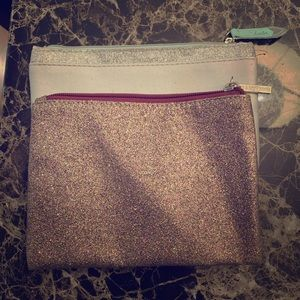 2 pack make up bags glitter
